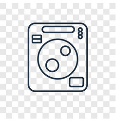 washing machine cleanin concept linear icon vector image