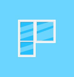 Window and balcony door icon on blue vector