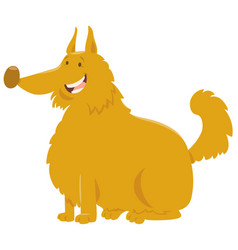 Yellow shaggy dog cartoon vector