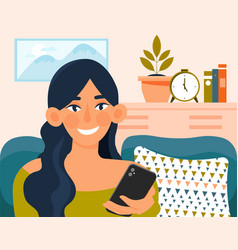 Young pretty woman relaxing vector