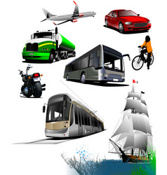all kinds of transport vector image vector image