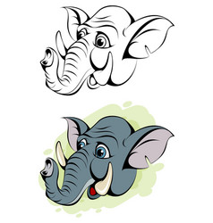 cartoon head of an elephant vector image