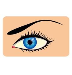 Close-up of beautiful eye vector image