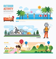 parks and outdoor activityTemplate Design Infograp vector image vector image