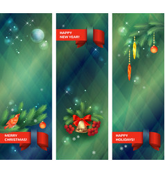 Vertical Holidays Christmas Banners vector image vector image