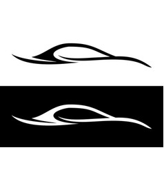 abstract car shape black and white symbol vector image