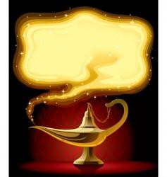 Aladdin's lamp vector image