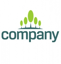 financial growth logo vector image