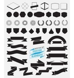 Huge set of vintage styled design hipster icons vector image