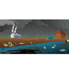 pollution and garbage vector image