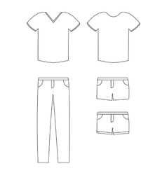 Simple of casual clothing vector image