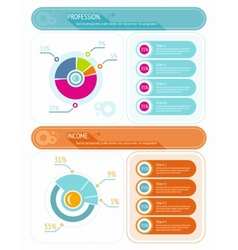 Abstract pie chart graphic for business design vector image vector image