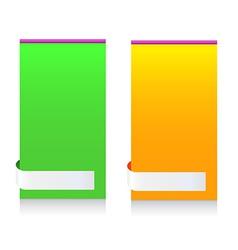 Modern Message Information Frame Colorful vector image vector image