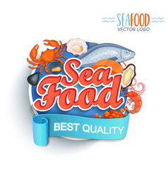 seafood best quality logo vector image