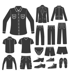 set of men s clothing vector image vector image