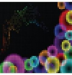 Abstract rainbow mosaic vector image