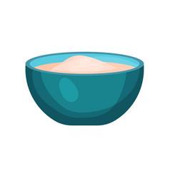 bowl of flour baking ingredient vector image