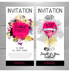 Cocktail party poster Invitation design vector image vector image