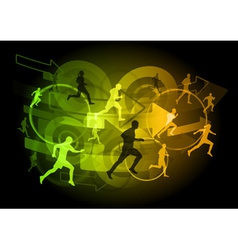 modern runners vector image vector image