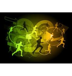 modern runners vector image