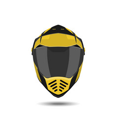 motorcycle helmet on a white background vector image vector image