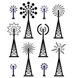 radio towers vector image vector image
