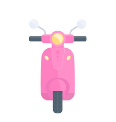 scooter pink version vector image vector image