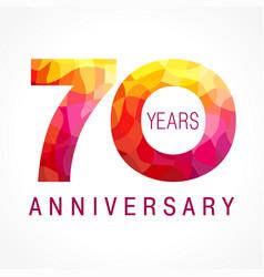 70 anniversary red logo vector