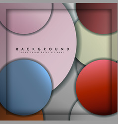 Abstract circle background with color stone and vector