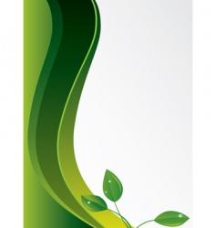 Abstract green background with leaves vector