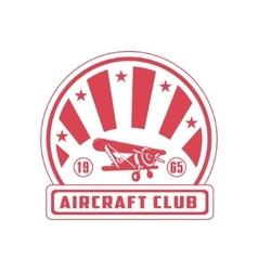 Aircraft Club Red Emblem Design vector