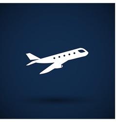 Airplane Plane symbol Travel icon vector image