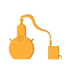 Alembic flat design the chemical process is a vector