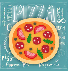 big pizza vector image