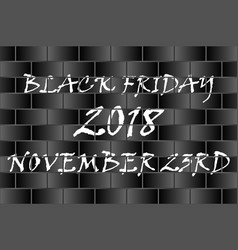 black friday - black and white vector image