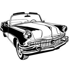 cabriolet 1950-60s retro vintage monogram vector image