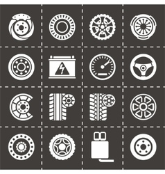 Car parts icon set vector image