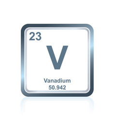 chemical element vanadium from the periodic table vector image