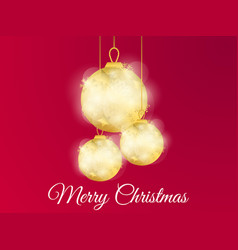 christmas ball with a golden gradient and vector image
