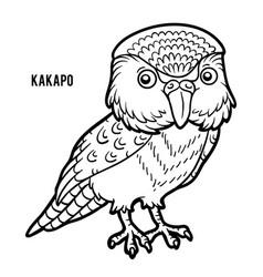 coloring book kakapo vector image