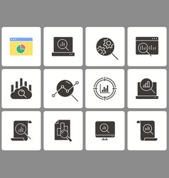 data analysis icon set isolated on vector image