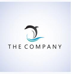dolphin logo ideas design vector image