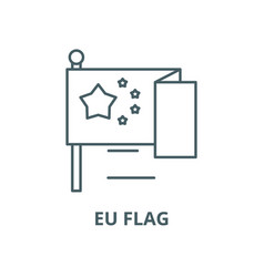 eu flag line icon linear concept outline vector image