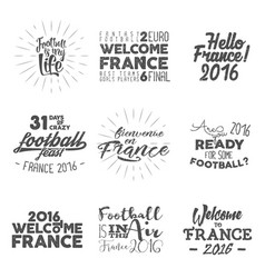 europe football labels soccer 2016 overlays vector image