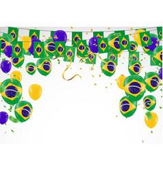festival celebrated brazilian colorful vector image
