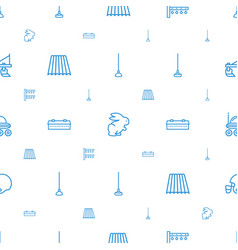 Field icons pattern seamless white background vector