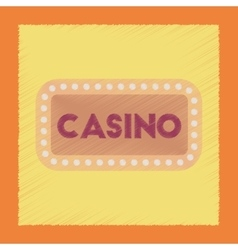 flat shading style icon casino sign vector image