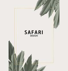floral motifs palm tree jungle safari design vector image