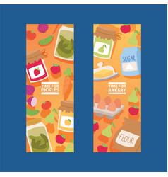 food meal vegetables fruits from vector image