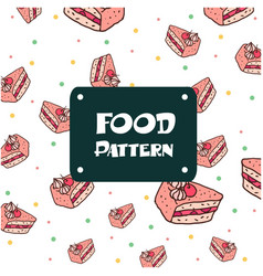 food pattern cake background image vector image
